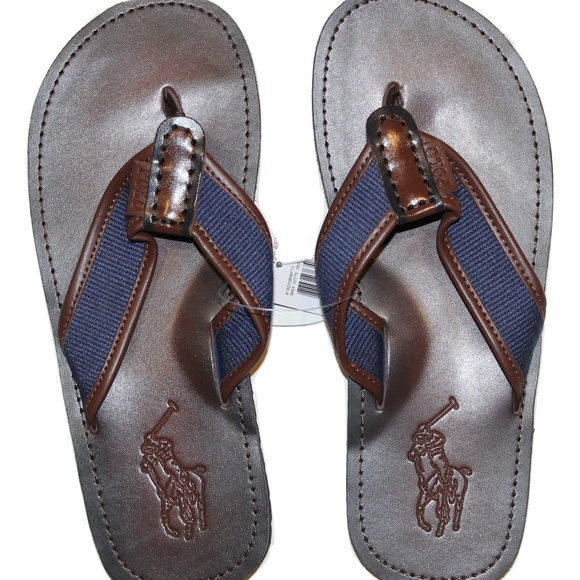 84651a3f0bb5 Polo Ralph Lauren Men s Leather Flip Flops